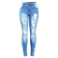 Cowboys Plus Size Stretchy Ripped Jeans