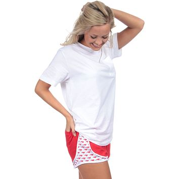 North Carolina Jersey Shorties in Red by Lauren James