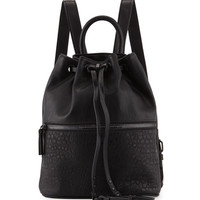 Mara Drawstring Backpack, Black