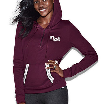 3ee8d822 Perfect Quarter-Zip Hoodie - PINK - from VS PINK | clothes