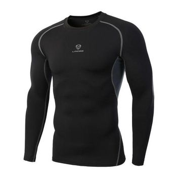 PEAPFS2 Quick Drying Sport Men Fitness Compression Shirt Gym Bodybuilding Long Sleeve Runnng T-shirt Crossfit Tops Shirts
