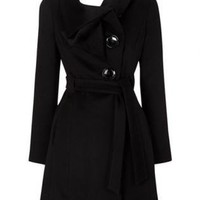 Bqueen Cute 1940s Coat Black K181H