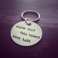 Hand Stamped Key chain with Quote From Friday Night Lights