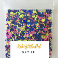 Holographic Glitter Mix Dots - Way Up