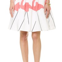 alice + olivia Hale Flamingo Puff Skirt