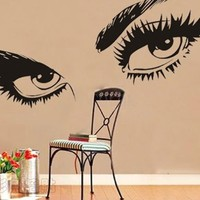 "23.6"" X 49.2"" Removable Wall Sticker Decor Audrey Hepburn Beautiful Female Eyes Wall Art Decals DIY Vinyl Sticker Decor for Room Home Wall Sticker.:Amazon:Toys & Games"