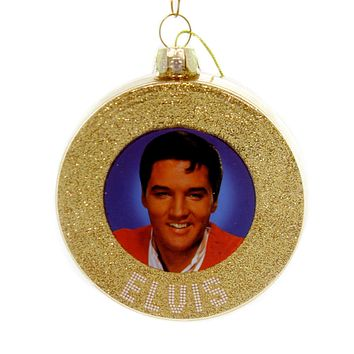 Holiday Ornaments ELVIS GOLD RECORD ORNAMENT Glass Presley Ep4182