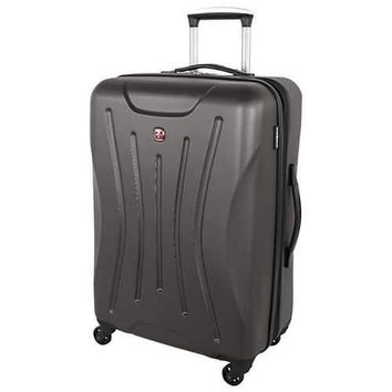 Swissgear Fiesta Collection 24 Inch Expandable Spinner Luggage Case - Charcoal