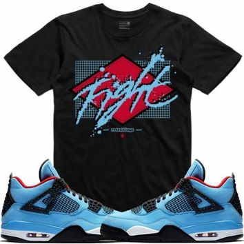 Jordan 4 Travis Scott Cactus Jack Sneaker Tees Shirt - BLOODFIGHT RK