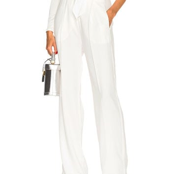 Michelle Mason Paper Bag Pant in Ivory | FWRD