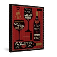 Wine Words II Canvas Wall Art
