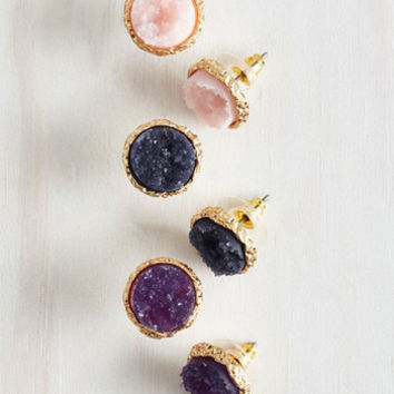 Boho Return to Throne Earring Set in Treasure Tones by ModCloth