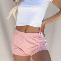 Sierra City Rose Jersey Knit Shorts