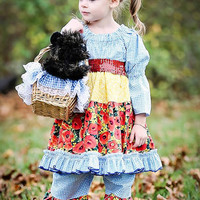 Girls Dress, Peasant Dress, Wizard of Oz, Birthday Party