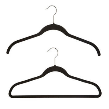 Black Huggable Hangers Case of 40