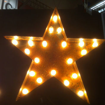 Vintage Marquee Lights Star by VintageMarqueeLights on Etsy