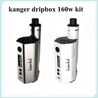 Kanger Dripbox 160W Starter Kit powered by 2pcs 18650 battery 7ml capacity features an RBA include a MTL and  a DL