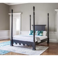 Sassy Boo Majestic Four Poster Black Bed | Luxury Bed