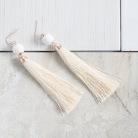 Right Round Tassel Earrings