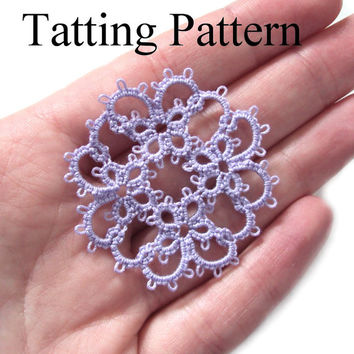 PDF Tatting Pattern Janessa Butterfly Motif - Intermediate - Instant Download