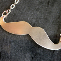Copper Mustache Necklace by ArmageddonArt on Etsy