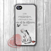 Eeyore Winnie The Pooh Quotes - zzz for iPhone 4/4S/5/5S/5C/6/6+,Samsung S3/S4/S5,Samsung Note 3/4