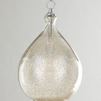 Mercury-Glass Pendant Light