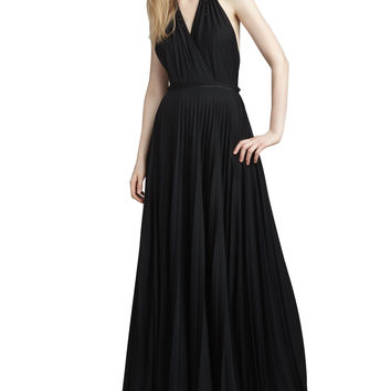 Women's Beaded Halter Gown - Halston Heritage - Black