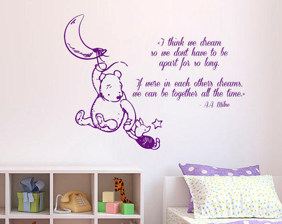 winnie the pooh wall decal quote i think from wall decals quotes classic winnie the pooh i knew by