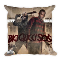 Big Gucci Sosa (16x16) All Over Print/Dye Sublimation Gucci Mane Chief Keef Couch Throw Pillow Insert & Pillow Case/Cover
