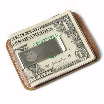 ONETOW Leather Stainless Steel Wallets and Money Clip