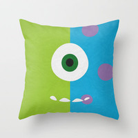 Monsters Inc - Minimalist Poster 02 Throw Pillow by Misery
