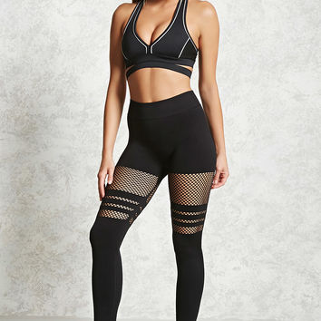 Active Netted Panel Leggings