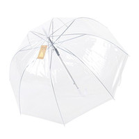 Remedios Women's Dome Clear Transparent Automatic Rain Umbrella Parasol for Favor