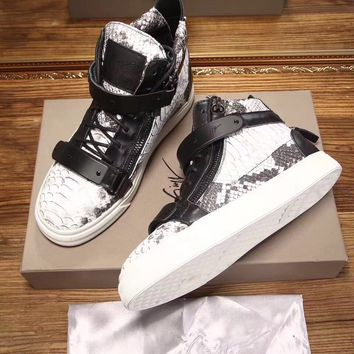 Giuseppe Zanotti Women's May London Leather Fashion High Top Sneakers Shoes