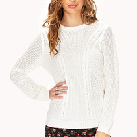 FOREVER 21 Must-Have Mixed Knit Sweater