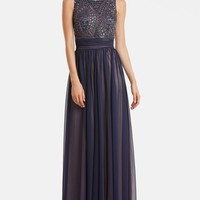 JS Collections Beaded Bodice Chiffon