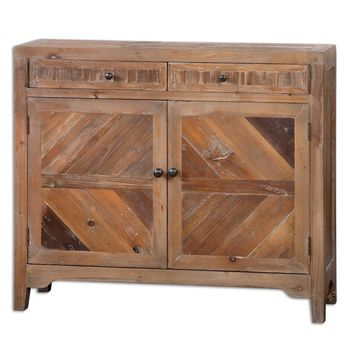 Hesperos Reclaimed Wood Console Cabinet By Uttermost