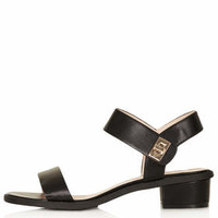 HEARTBREAKER 2Part Heel Sandals - Black
