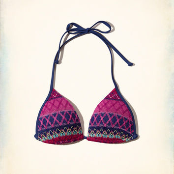 Girls Textured Pattern Push-Up Triangle Swim Top | Girls Swim | HollisterCo.com