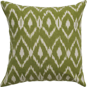 "Printed Beige Pillow Cover (18"" x 18"")"