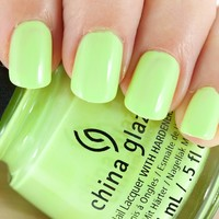 China Glaze Nail Lacquer (1300-GRASS IS A LIME GREENER) City Flourish 2014