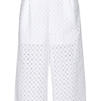 Zimmermann - Ryker broderie anglaise cotton culottes