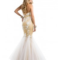 Wholesale 2014 Mermaid Overlay Lace Long Prom Dresses/ Formal Dress Flirt P7899 - Cheap Long Prom Dresses - Hellopromdress.net