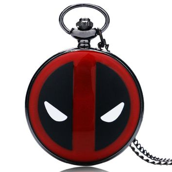 Deadpool Dead pool Taco Hot Sale  Theme Quartz Pendant Pocket Watch With Chain Necklace   AT_70_6