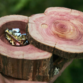 FREE SHIPPING,  Large Cedar Box for your Crystal Jewelry