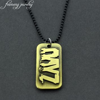 PS4 Game DayZ Nacklace This is your story Zombie Logo Dog Tag Pendant Necklaces For Men Women Fans Fashion Cool Accessories