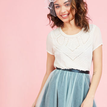 Dazzle Down the Aisle Top | Mod Retro Vintage Short Sleeve Shirts | ModCloth.com