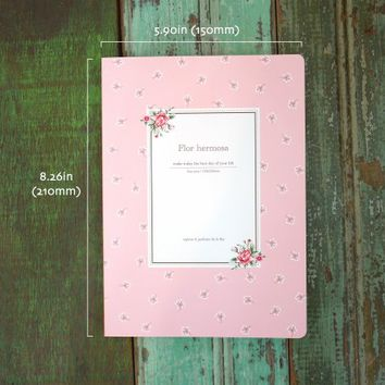 Flor Hermosa Lined Notebook
