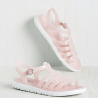 Ready for This Jelly? Sandal in Blush | Mod Retro Vintage Sandals | ModCloth.com
